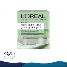 L'Oreal Paris Pure Clay Green Face Mask - Eucalyptus, Purifies and Mattifies - 50 ml